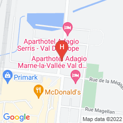 Map HIPARK BY ADAGIO SERRIS-VAL D'EUROPE