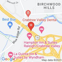 Map HOLIDAY INN CRABTREE VALLEY