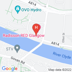 Map HILTON GARDEN INN GLASGOW CITY CENTRE