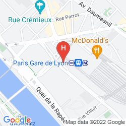 Map MERCURE PARIS GARE DE LYON