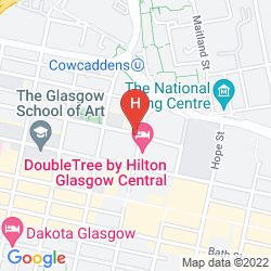 Map EASYHOTEL GLASGOW CITY