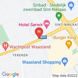 Map BEST WESTERN HOTEL SERWIR
