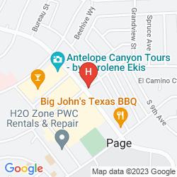 Map RODEWAY INN