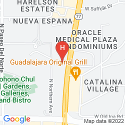 Map RED LION INN & SUITES TUCSON FOOTHILLS NORTH