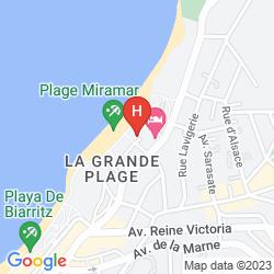 Map SOFITEL BIARRITZ LE MIRAMAR THALASSA SEA & SPA