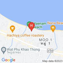 Map COCO PALM BEACH RESORT