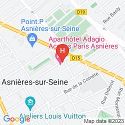 Map APARTHOTEL ADAGIO ACCESS PARIS ASNIÈRES
