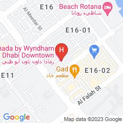 Map RAMADA ABU DHABI DOWNTOWN