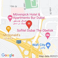 Map DUNES HOTEL APARTMENTS, OUD METHA