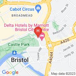 Map MERCURE BRISTOL GRAND