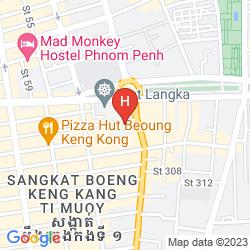Map CASA HOTEL PHNOM PENH