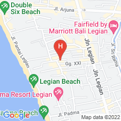 Map AMARIS HOTEL LEGIAN