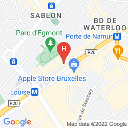 Map THE HOTEL, BRUSSELS