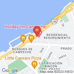 Map HOLIDAY INN CAMPECHE