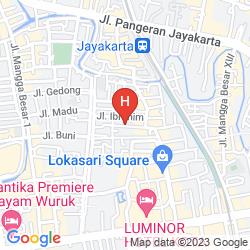 Map AMARIS HOTEL MANGGA BESAR