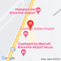 Map CANDLEWOOD SUITE KNOXVILLE AIRPORT ALCOA