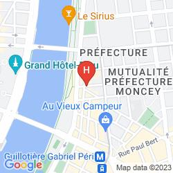 Map BEST WESTERN HOTEL DU PONT WILSON