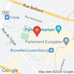 Map LEOPOLD HOTEL BRUSSELS EU
