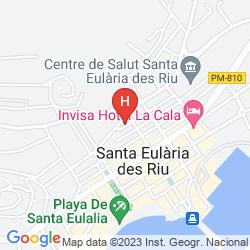 Map AZULINE HOTEL MEDITERRANEO