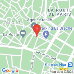Map BEST WESTERN HOTEL DE LA BRECHE