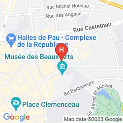 Map QUALITY HOTEL PAU CENTRE BOSQUET