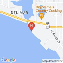 Map BUCCANEER BEACH MOTEL