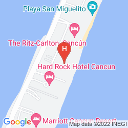Map SANDOS CANCUN LUXURY EXPERIENCE