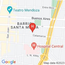 Map MOD HOTEL MENDOZA