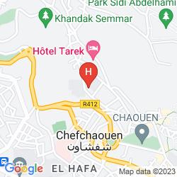 Map HOTEL ATLAS CHAOUEN