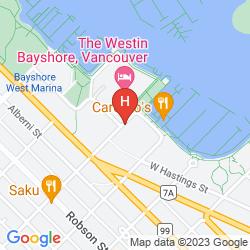 Map THE WESTIN BAYSHORE VANCOUVER