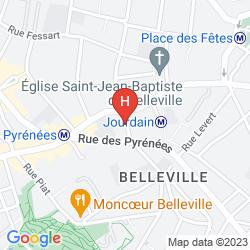 Map HIPOTEL PARIS BUTTES CHAUMONT PYRENEES