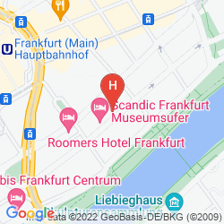 Map SCANDIC FRANKFURT MUSEUMSUFER