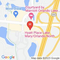 Map HYATT PLACE LAKE MARY