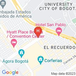 Map HOTEL LA ESTACION CORFERIAS