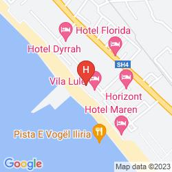 Map INTERNATIONAL ILIRIA HOTEL