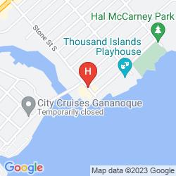 Map GANANOQUE INN AND SPA
