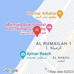 Map RAMADA BEACH HOTEL AJMAN