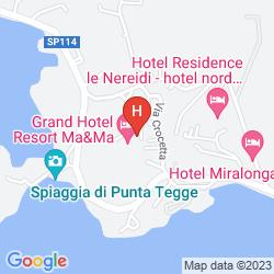 Map GRAND HOTEL RESORT MA&MA