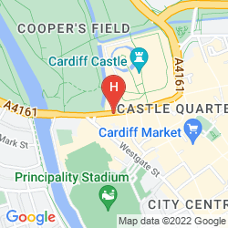 Map CARDIFF ANGEL HOTEL (EX BARCELO)