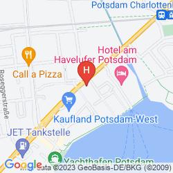 Map HOTEL AM HAVELUFER POTSDAM