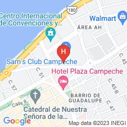 Map CITY EXPRESS CAMPECHE