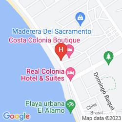 Map COSTA COLONIA RIVERSIDE BOUTIQUE