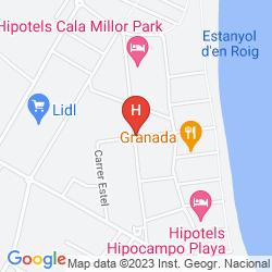 Map CALA MILLOR APARTAMENTOS