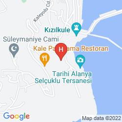 Map HOTEL VILLA TURKA
