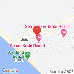 Map ANYAVEE AO NANG BAY RESORT