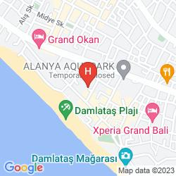 Map ALIN HOTEL ALANYA