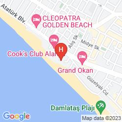 Map SAVK HOTEL ALANYA