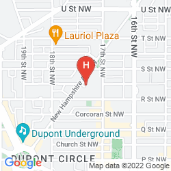 Map KIMPTON CARLYLE HOTEL DUPONT CIRCLE