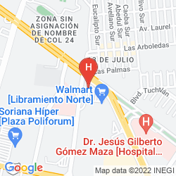 Map CITY JUNIOR TUXTLA GUTIERREZ POLIFORUM