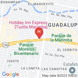 Map HOLIDAY INN EXPRESS LA MARIMBA